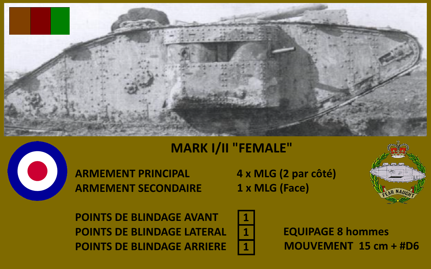 MARK II FEMALE ARRAS 1917