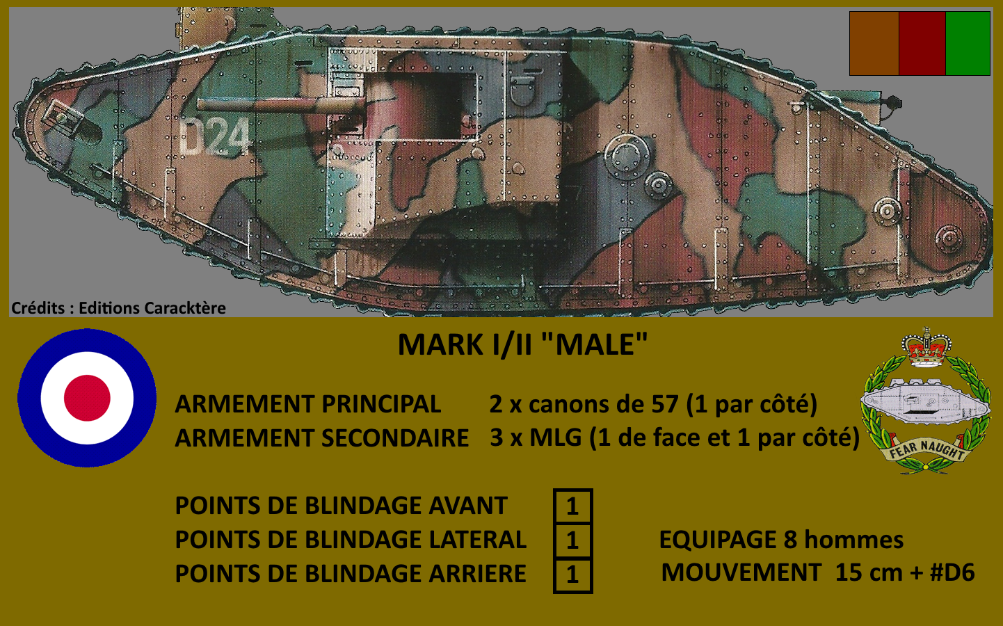 MARK II MALE ARRAS 1917